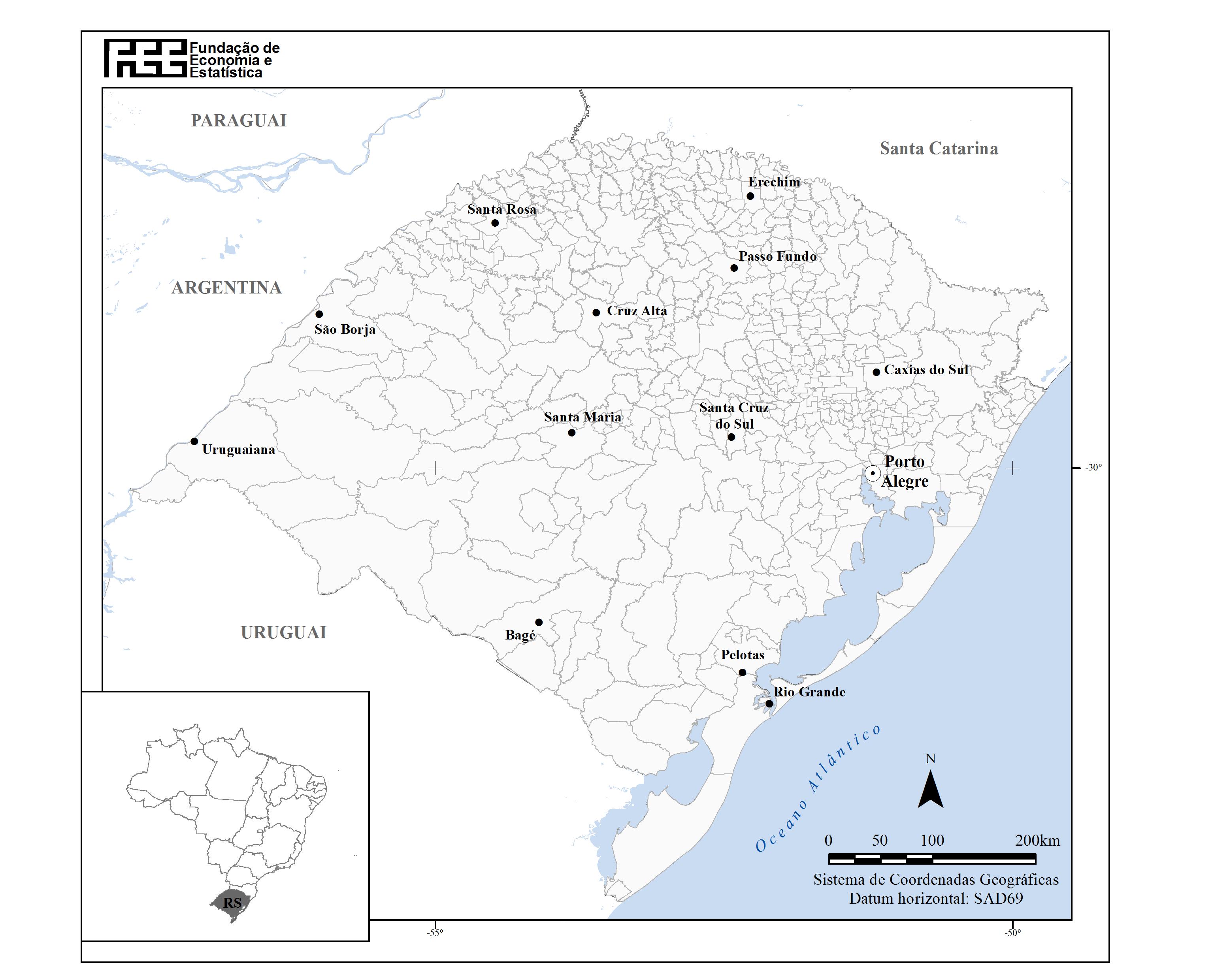 Divisão Geopolítica do RS