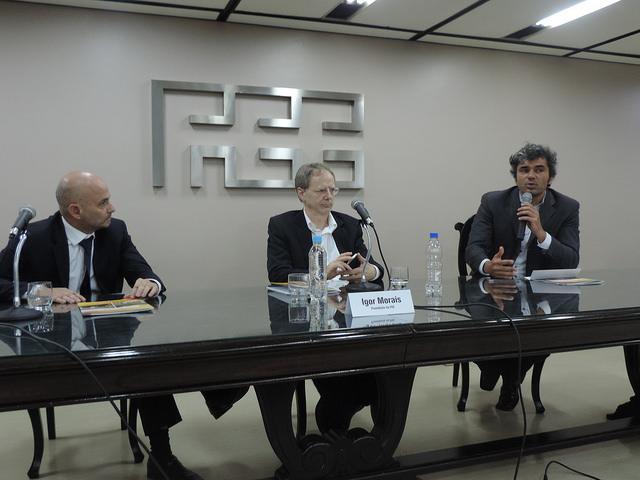 Da esquerda para a direita: Aod Cunha, Adalmir Marquetti e Igor Morais.